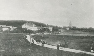 Gammalt fotografi på hur det såg ut i Kimito i början av 1900-talet.