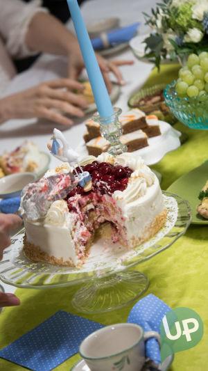 Kuvassa kakku.