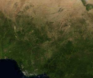 Satellitbild av Nigeria.