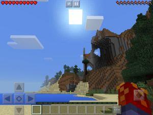 En scen ur datorspelet Minecraft.