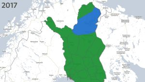Resultatet i kommunalvalet i norra Finland 2017