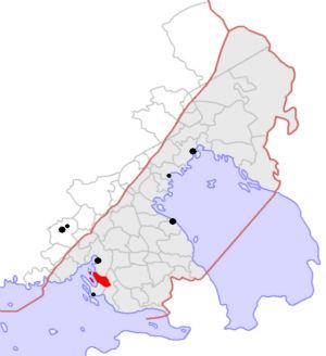 Johanneksen kunta kartalla
