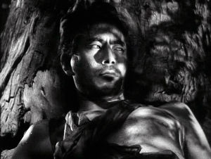 Toshiro Mifune elokuvassa Rashomon - paholaisen portti