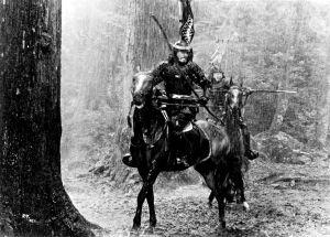 Toshiro Mifune elokuvassa Seittien linna