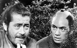 Toshiro Mifune ja Yuzo Kayama elokuvassa Samuraimiekka