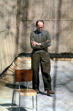 Adolf Eichmann vankilassa Israelissa vuonna 1961