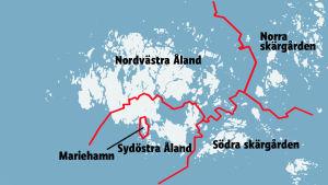 Förslag på hur de Åländska kommunerna kunde se ut i framtiden.