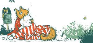 """Illustration ur boken """"Kurre Snobb och popcornen"""" av Lena Frölander-Ulf och Sanna Tahvanainen."""