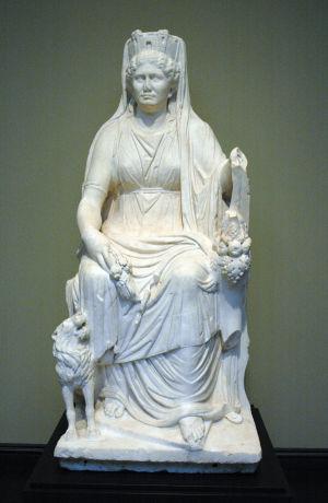 Staty på modersgudinnan Kybele