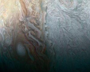 En storm på Jupiter.