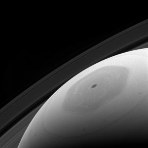 Planeten Saturnus nordpolsregion.