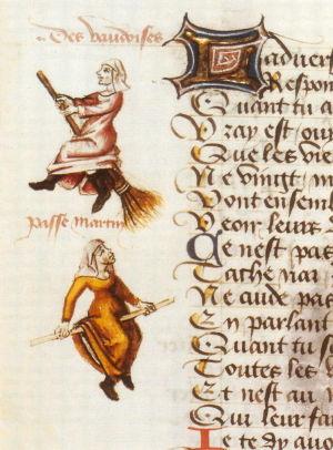 Champion des dames Vaudoises  Mandariine d'une enluminure de Martin Le France