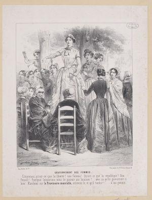 Naisia kokoontuu puistossa
