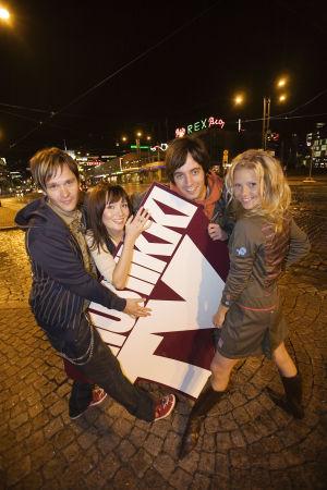 Tomi Saarinen (vas.), Marja Hintikka, Ile Uusivuori ja Sonja Kailassaari.