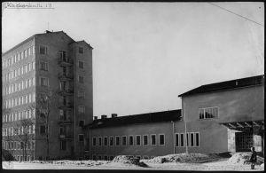Åbolands sjukhus i Åbo då byggnaden byggdes på 1950-talet.