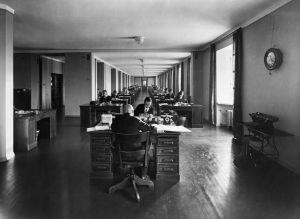 Kontorsanställda på Elantos huvudkontor 1931.