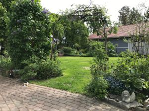 Lummig port in till trädgården.