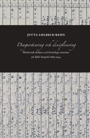 Pärmbilden till Jutta Ahbleck-Rehns avhandling om medicinsk diskurs och kivnnligt vansinne på Själö hospital 1889-1944.