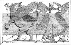 Marduk slåss med Tiamat.