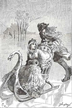 Carl Larssonin kuvitusta Sakari Topeliuksen Välskärin kertomuksia -romaaniin.