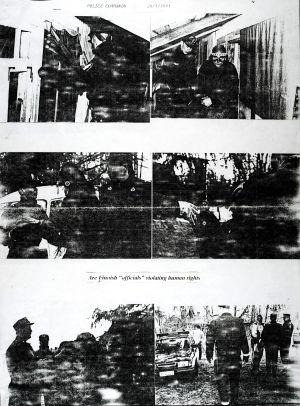 Kuvia poliisipiirityksestä