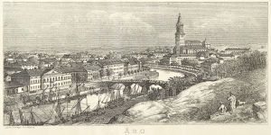 Turku ja Aurajoen rannat mahdollisesti vuonna 1872.