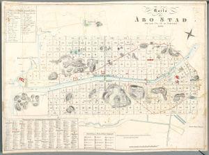 Turun kartta vuodelta 1828.