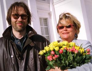 Ohjaaja Tapio Piirainen ja tuottaja Anneli Pallas (1999).