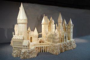 Miniatyr av slottet Hogwarts.