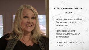 Elina Ristmeri - rakennuttajan vaimo