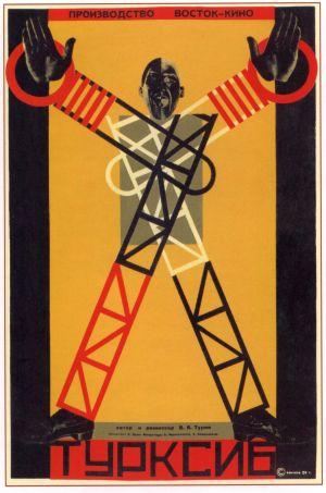 Elokuvan Turksib (1929) mainosjuliste