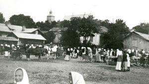 pargas torg på gamla malmen för 100 år sedan