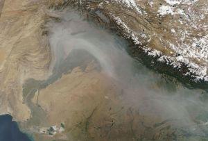 Satellitbild över norra Pakistan och norra Indien.