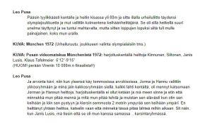 Käsikirjoitusta Urheilu-Suomeen