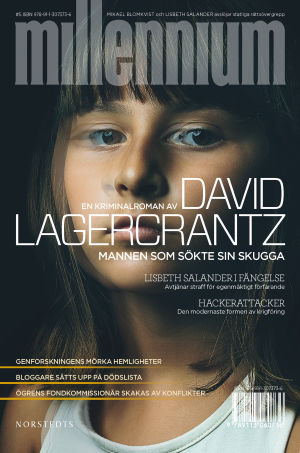 Pärmen till David Lagercrantz thriller Mannen som sökte sin skugga.