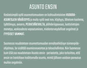 Tietolaatikko asunnottomuudesta Suomessa ja Yhdysvalloissa.