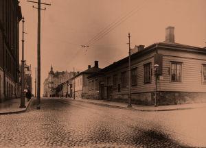 Kalevankadun ja Yrjönkadun risteys 1903.