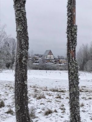 Borgå kyrka i vinterskrud
