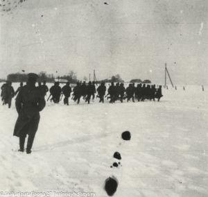 Harjoitus jäällä, Suomeen palanneita jääkäreitä (1918).