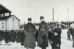 Jääkäreitä Vaasassa (1918).