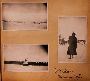 Talvisia valokuvia Jalasjärveltä 1918.