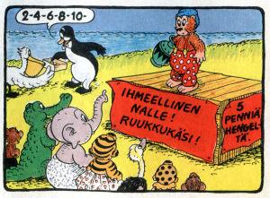 Rasmus Nalle ruukku kädessä