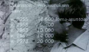 Kuvakaappaus Taistelu saaristostamme -dokumentista vuodelta 1975.