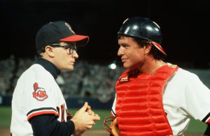 Tom Berenger och Charlie Sheen i filmen Major League.