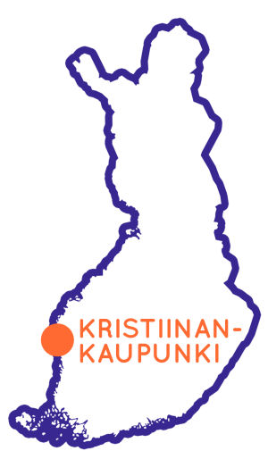 Karta som visar Kristinestads läge i Finland.