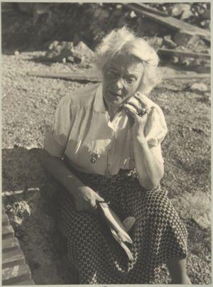 Alma Söderhjelm i slutet av 1930-talet.