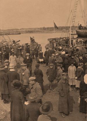 Saksalaisia joukkoja Hangossa 3.4.1918