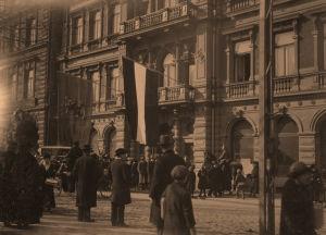 Saksalaisten päämaja hotelli Kämp Esplanadilla 1918.