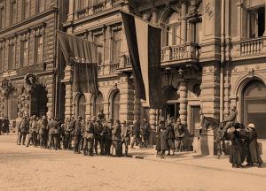 Saksalaisia sotilaita Helsingissä 17.4.1918.