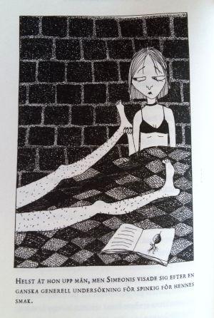 """Illustration av Linda Bondestam i Stella Parlands """"Missförstånd. En ofärdig roman""""."""